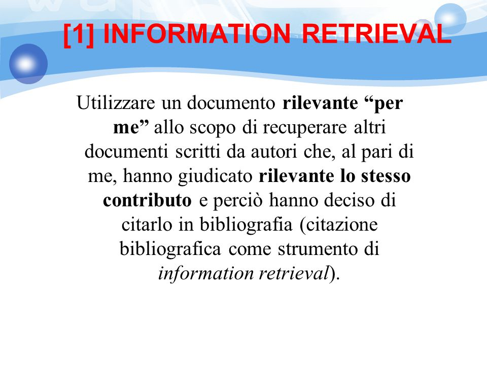 [1] INFORMATION RETRIEVAL